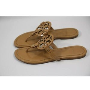 Tory Burch Shoes - Tory Burch Miller Sandals Patent Leather tan
